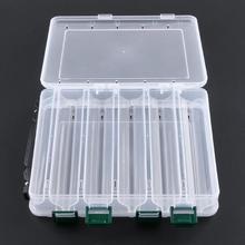 1 шт. рыболовная коробка для приманки, двухсторонняя пластиковая приманка, коробки для ловли нахлыстом, коробка для хранения рыболовных снастей, принадлежности, аксессуары, высокая прочность