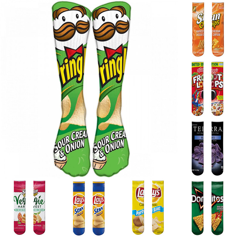 Harajuku Funny Socks Food Hamburg/Pizza/Sushi Printed Cute Socks Women's  Milk Creative Life Sokken Chaussette Femme