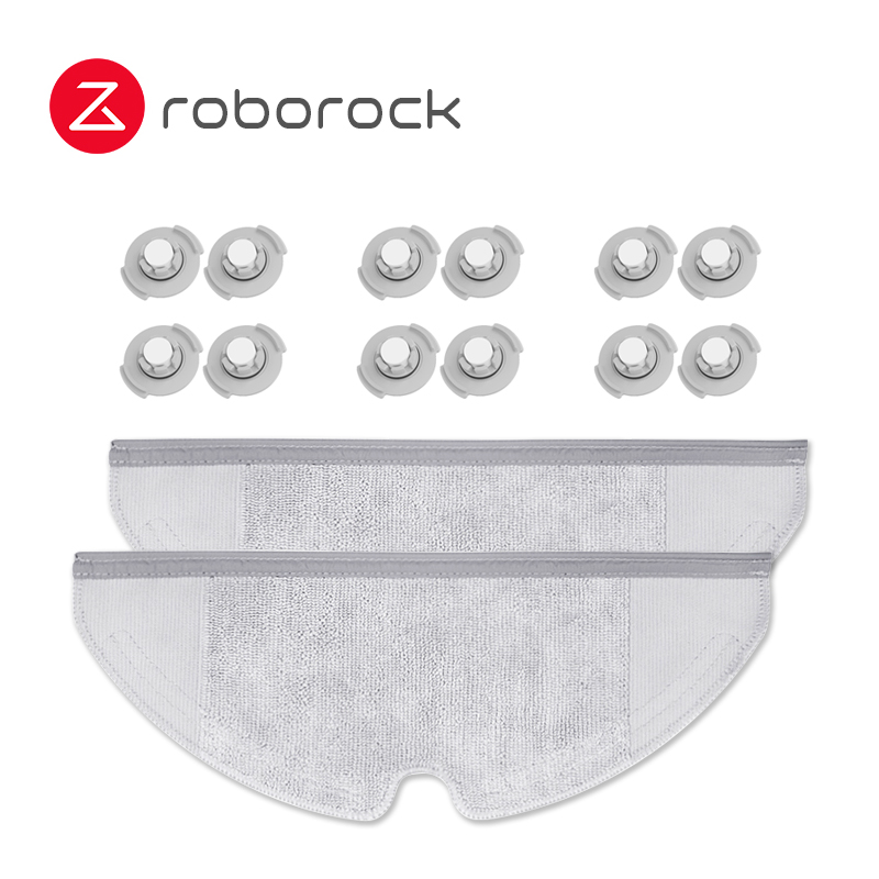 Xiaomi Roborock S50 S51 Parts Suitable For Xiaomi Vacuum Cleaner 2 Mop Cloth Dry Wet Mopping*2 Water Tank Filter*12 Accessories