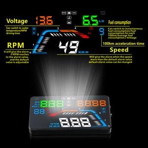 Image 2 - GEYIREN A100S z osłoną przeciwsłoneczną Q700 wyświetlacz samochodowy HUD wyświetlacz OBD II EUOBD wyświetlacz parametrów wozu na szybie elektronika samochodowa lepiej niż C60 C80