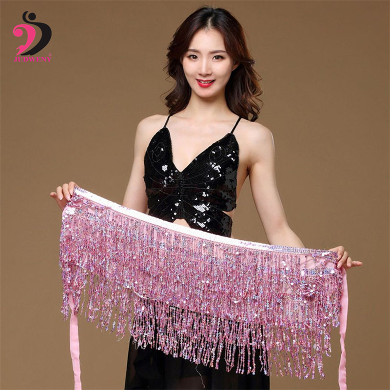 Lady Women Belly Dance Hip Scarf Accessories Multi Color Belly Dancing Bohemia Belt Bellydance Waist Coins Chain Hip Dancewear in Belly Dancing from Novelty Special Use