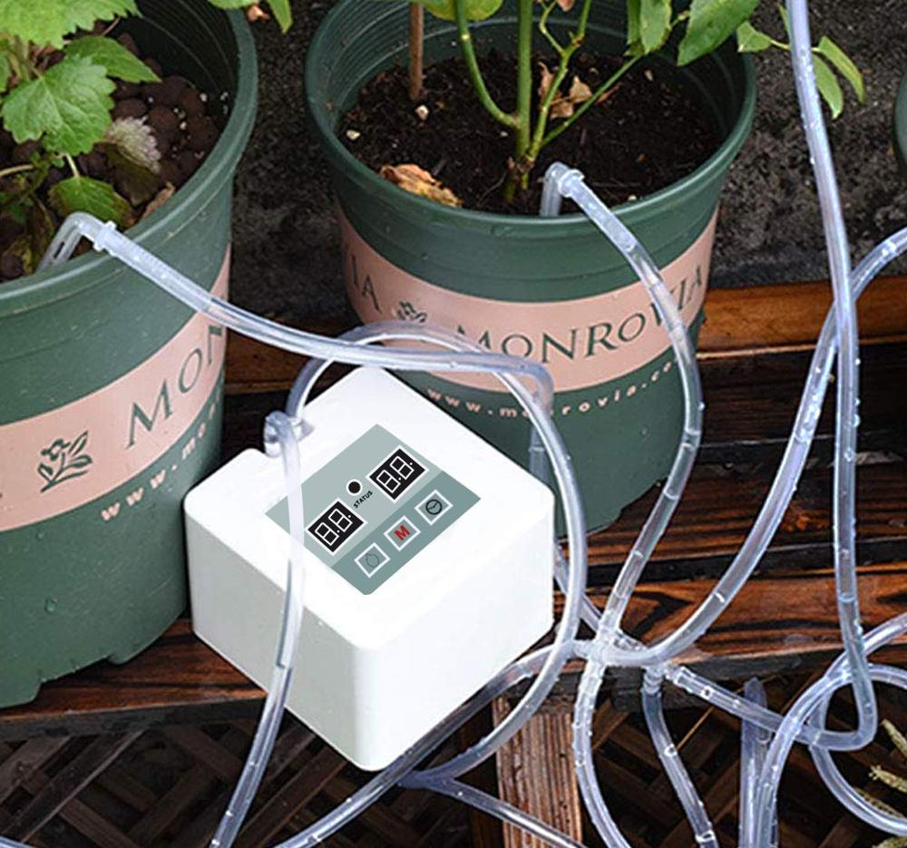 DIY Miniature Automatic Drip Irrigation Kit Garden Irrigation System Indoor Plant Automatic Watering System title=