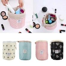2019 heißer Verkauf Runde Make-Up Tasche Wasserdichte Reise Kosmetik Tasche Kultur Veranstalter Make-Up Taschen Für Frauen Schönheit Fall Boxen