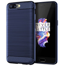 ZOKTEEC High quality luxury Silicone Case For OnePlus 5 ShockProof Fitted Carbon Fiber Soft TPU Phone Cover 5T