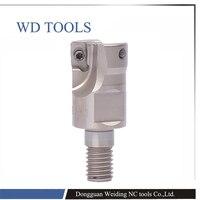 Cabeça de cortador de trituração R390 16-2T-M8 R390-20-2T-M10 M8 M10 M12 M16 montado lâmina fresa haste dente fio moinho ferramenta