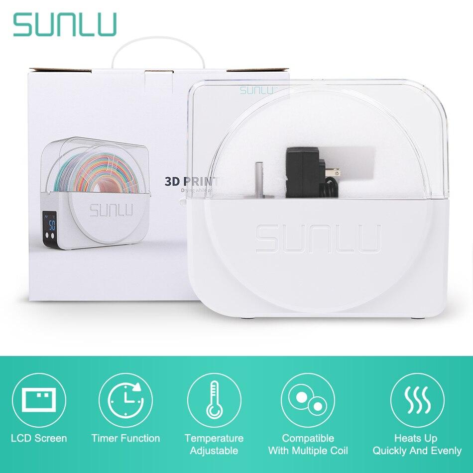 Sunlu 3d filamento secador caixa recém chegados s1 3d impressora filamento caixa de armazenamento 3d impressão mate manter filamentos secos filadriter s1