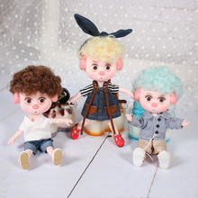 1/12 BJD Dolls 26 ball joint body 15CM Mini Doll Lucky Pig ob11 DBS Doll with Equipment Shoes Makeup Set Gift Toy