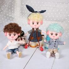 1/12 BJD Puppen 26 kugelgelenk körper 15CM Mini Puppe Glück Schwein ob11 DBS Puppe mit Ausrüstung Schuhe Make Up set Geschenk Spielzeug