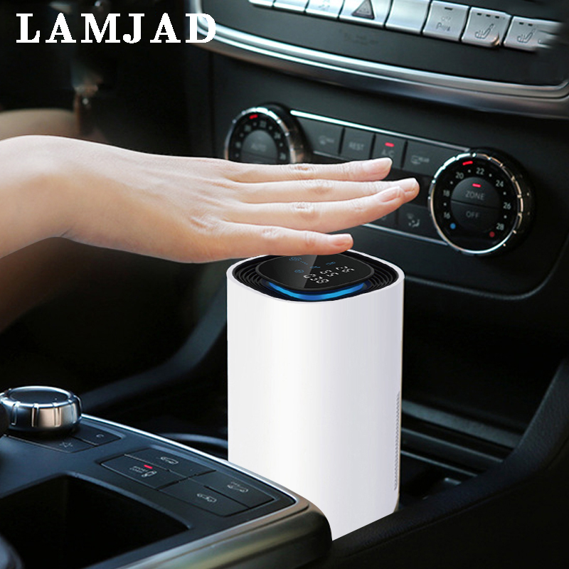 Portable Advanced Air Purification Ionizer Negative Ion Generator Smart Car Air Purifier For Car Filter Aroma Ionic Air Cleaner