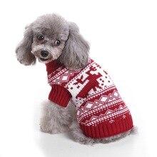 Hoomall 1 шт. Рождественская Одежда для собак зимняя теплая одежда для собак и щенков, одежда Блузка мягкого силуэта, свитер со щенком для собак чихуахуа Йорк