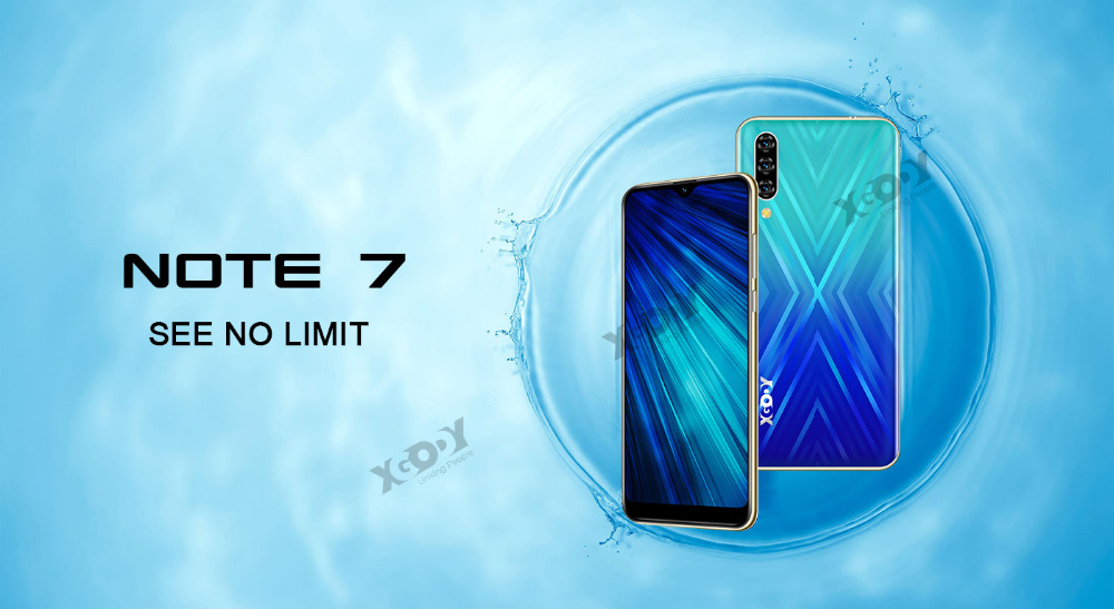 Xgody 3G teléfono móvil Note7 2GB 16GB Smartphone 6,26 2