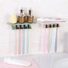 Soporte de cepillo de dientes autoadhesivo, repisa de drenaje, ahorro de espacio de almacenamiento, estante de pared, soporte de cepillo de dientes, accesorios de baño para el hogar