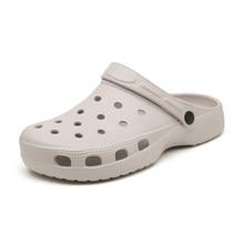 Sapatos masculinos de praia casual chinelos unissex oco para fora casual casal praia sandália flip flops sapatos não-slide masculino slippers013