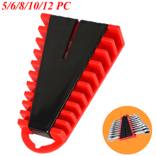 5/6/8/10/12 slot Wrench Rack Storage Tools Plastic Tool Organizer for Spanner Hand Tools Garage Wrenches Keeper