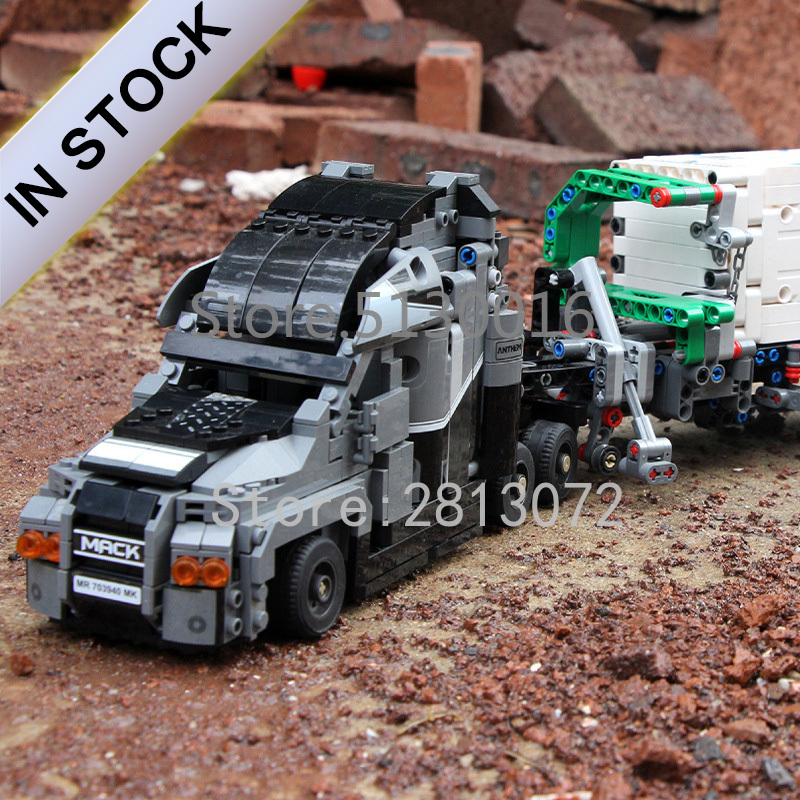 Technic Mark Container Truck Dump Truck MOC 1202Pcs Model Building Blocks Compatible with 20076 42078 <font><b>42009</b></font> 20004 image