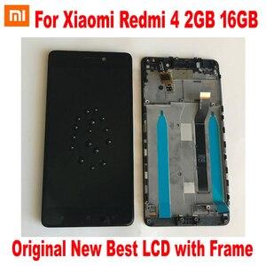 Image 2 - 원래 새로운 최고의 Xiaomi Redmi 4 16 기가 바이트/4 프로 프라임 32 기가 바이트 LCD 디스플레이 10 포인트 터치 스크린 디지타이저 어셈블리 센서 프레임