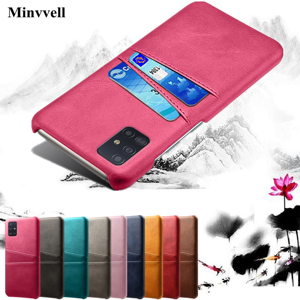 Case For Samsung Galaxy A51 A71 A81 A91 M30S S20 Ultra Card Slots Cover PU Leather+PC Back Cases For Samsung S20 Plus A515 Case