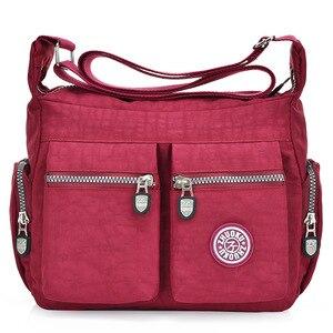Image 3 - 2020 womens bags new waterproof  shoulder & crossbody bags zipper nylon fashion cross travel  womens messenger bag