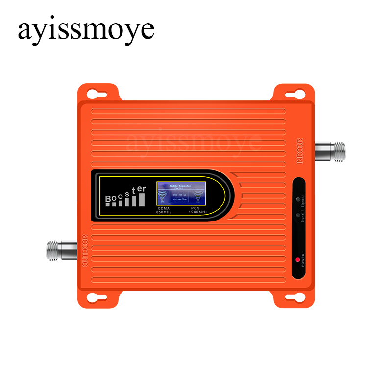Best Selling Orange Mobile Signal Enhancer Dual Band GSM DCS 900 / 1800MHz Signal Repeater Enhancer