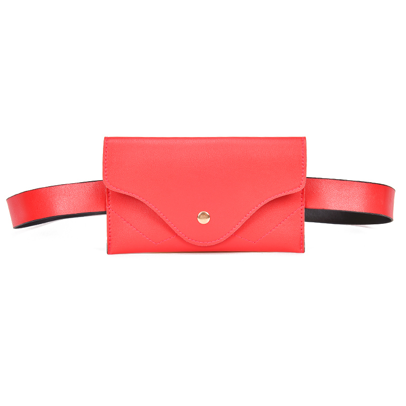 Fashion Women Waist Bag PU Leather Belt Bag Pure Color Pack For Women Female Vintage Waist Pouch Purse Phone Pouch