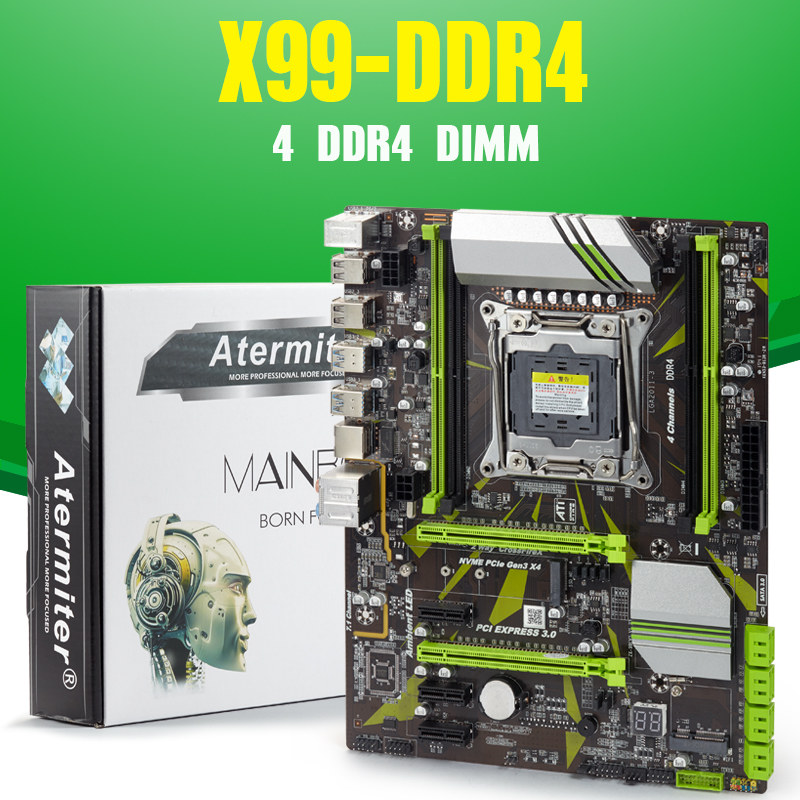Atermiter Desktop Computer Motherboard-Module DDR4 4-Channel X99 Professional title=