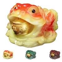 Chá chinês criativo animal de estimação sapo sorte cor mudando mesa ornamento bandeja de chá acessórios|Figuras p/ chá| |  -
