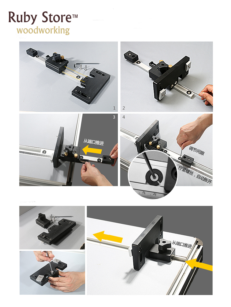 Accesories for Table Saw Fence System without Aluminium Fence and Tracks in Hand Tool Sets from Tools