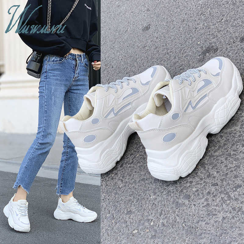 Papà Scarpe Ulzzang Sneakers Inverno Caldo Bianco E Nero Della Donna di Pallacanestro Scarpe Da Tennis Tenis Scarpe di Lusso delle Donne Chunky Riflettente