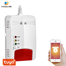 EU plug Wifi Gas Sensor Gas Leak Detector Alarm Tuya Smart Life App Wall-mounted for Smart Home Security