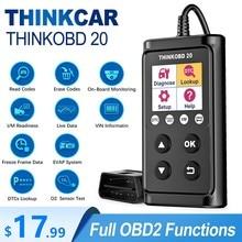 Thinkcar thinkobd 20 obd2 scanner profissional obdii ferramenta de diagnóstico do carro auto scanner leitor código dtc lookup verificação motor luz