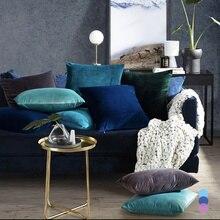 26colors Cushion Cover 30x50 Rectangle Pillow Case For Living Room Sofa Velvet Throw Pillowcase Home Decoration Kussenhoes Decor