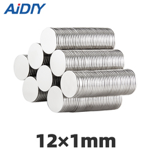 цена на AI DIY 20/50/100 pcs 12mm x 1mm strong round magnets N35 diameter neodymium Round Rare Earth Magnetic magnet Disc 12*1mm