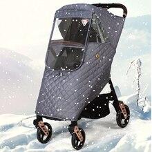 Baby Stroller Raincoat Wind-Dust Pushchairs Waterproof Winter Thicken