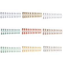 Мягкий Карамельный Цвет Овальная головка накладные ногти акриловые накладные ногти маникюрного салона, советы с 2g Клей для ногтей длинный рукав короткий круглый Типсы 24 шт./компл