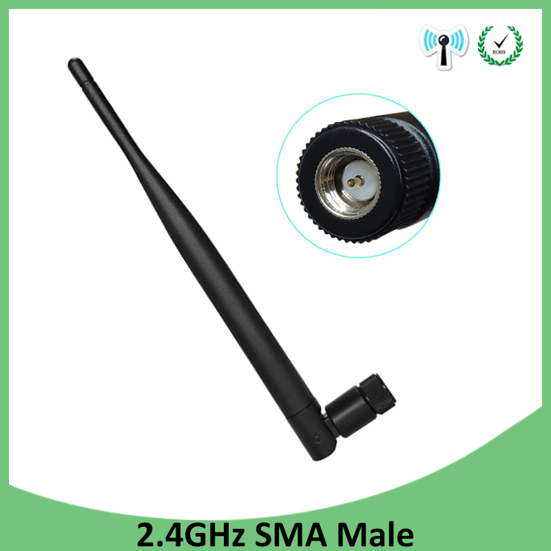 1pcs 2.4GHz WIFI Antenna 5dbi Aerial SMA Male Connector Wi Fi Antena 2.4 Ghz Antenne Wi-fi For Wireless Router Antenas