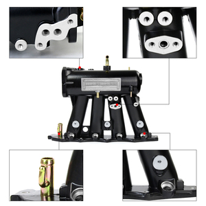 Image 3 - PQY   FOR b16a b16b b18a Aluminum Cast Intake Manifold Upgrade Bolt On FOR 99 00 Honda Civic 92 01 Acura Integra PQY IM42 CA