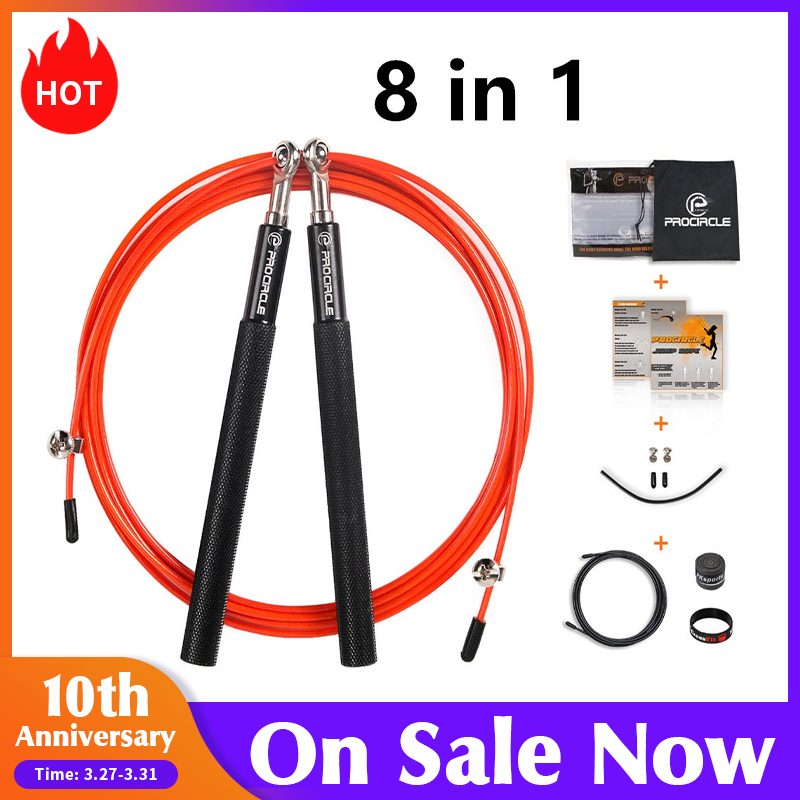 ProCircle Speed Jump Rope Ultra-speed Ball Bearing Skipping Rope Steel Wire Jumping Ropes For Boxing MMA Gym Fitness Training
