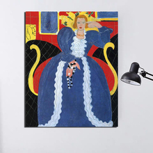 Lady In Blue Henri Matisse Wall Art Canvas Painting Posters Prints Modern Picture For Living Room Home Decoration
