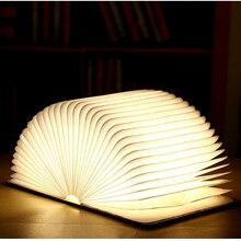 Креативный Обесцвечивающий светодиодный книжный забавная Подсветка USB флип-Книжный светильник usb зарядка ночник декоративный складной настольный светильник странная лампа