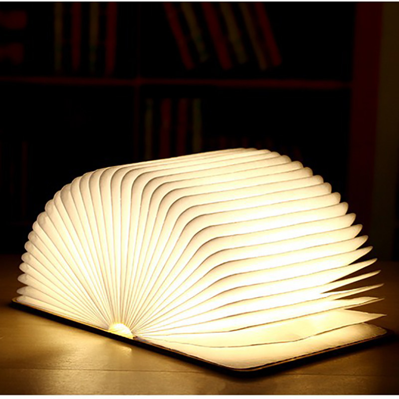 Creative Discoloration LED Book Funny Light USB Flip Book Light USB Charging Night Light Decoration Folding Table Strange Lamp