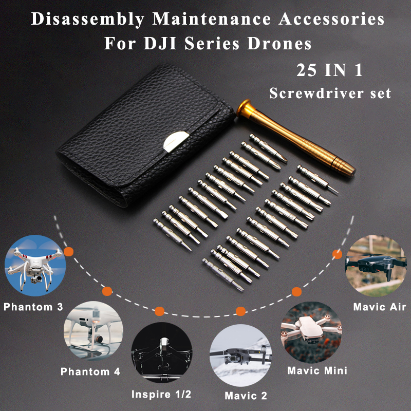 25in1 Screwdriver Set Professional Screw Bolt Driver Repair Tool Kit for DJI Mavic 2 Pro Air Spark Inspire Phantom 2 3 4 Drones
