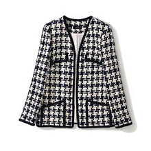 2019 Fall/winter Womens brand new design plaid coat Fashion high quality tweed womens vintage A980