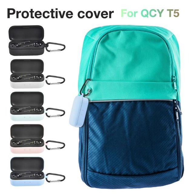 T5 Silicone TPU coque For QCY T5 Case fashion 360 full edge Protection Case for qcy t 5 Bluetooth Wireless Earphone Case funda 3