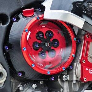 Image 5 - JAER التصنيع باستخدام الحاسب الآلي سباق واضح غطاء القابض والربيع التجنيب R لسيارات BMW S1000RR S1000R S1000XR HP4 مقاوم للماء الصلبة البليت الملحقات