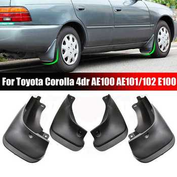 4PCS Car Mud Flaps Front Rear Mudguard Splash Guards Fender TPO Plastic Mudflaps For Toyota Corolla 4dr AE100 AE101/102 E100 image