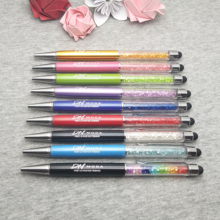 200 pcs/lot custom wedding date in Diamond touch pen your personalized gift