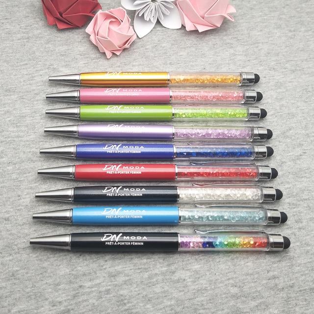 200 pz/lotto da sposa su misura data in Diamante penna di tocco il vostro regalo di nozze personalizzati