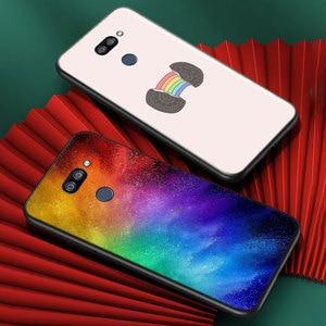 Image 2 - أزياء قوس قزح الفن ل LG K22 K71 K61 K51S K41S K30 K20 2019 Q60 V60 V50 V40 V35 V30 G8 G8S G8X ThinQ جراب هاتف