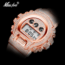 Dropshipping Original MISSFOX Digital Gshock Watch For Men Rose Gold Waterproof Luxury Watch Luminous Sport Male Wrist Watch цена 2017