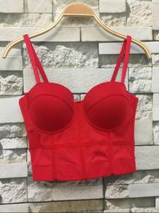Image 4 - Nouvelle mode maille Push Up Bralet femmes Corset Bustier soutien gorge boîte de nuit fête recadrée haut
